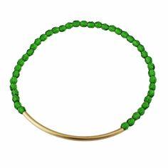 Kelly Green Bar Bracelet #etsy #jewelry #gold