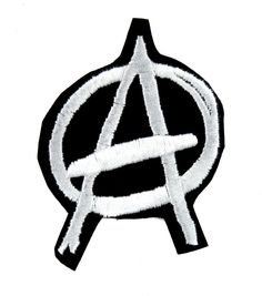 White Anarchy Sign Patch Iron on Applique Punk Rock Clothing 66c787c8d6ba