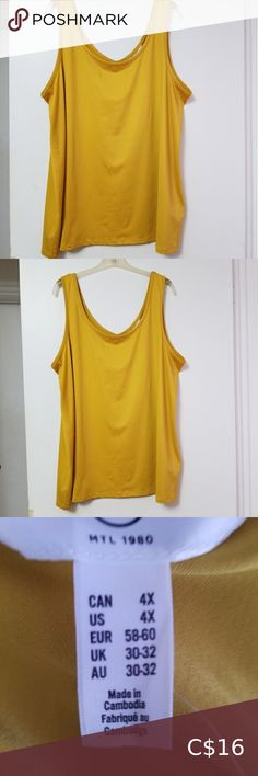 TANK TOP Size 4X Tank Top in a beautiful yellow. Addition elle Tops Tank Tops Fall Fashion Trends, Spring Fashion, Fashion Bloggers, Fashion Tips, Curvy Petite Fashion, Plus Fashion, Style Fashion, Addition Elle, Extra Petite