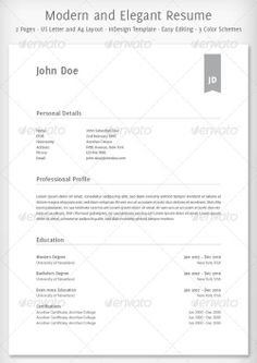20 awesome resume cv templates mow design graphic design blog - Simple Resume Objective Statements