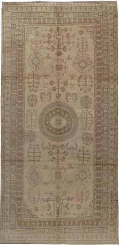Antique Khotan Gallery Carpet, No. 14672 - 6ft. 7in. x 13ft. 7in.