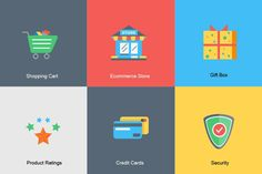 Free Shopping Cart, Payment and Other E-commerce Icons - Designmodo http://designmodo.com/ecommerce-icons: