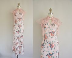 awesome Etsy listing at https://www.etsy.com/listing/189102845/vintage-1930s-dress-floral-bias-dress