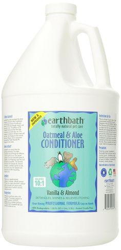 Earthbath Oatmeal and Aloe Conditioner * Check out this great image  : Dog supplies for health