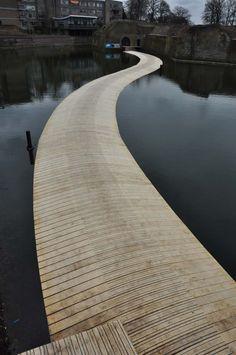 The Ravelijn Floating Bridge, Bergen op Zoom, Netherlands by RO&AD Architecten