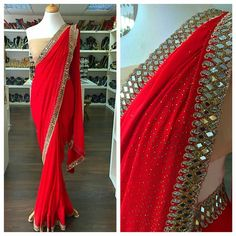 Indian Bridal Outfits, Indian Designer Outfits, Indian Dresses, Salwar Neck Designs, Half Saree Designs, Saree Designs Party Wear, Party Wear Sarees, Saree Blouse Patterns, Saree Blouse Designs