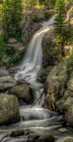 Alberta Falls, Rocky Mountain National Park, Colorado, USA