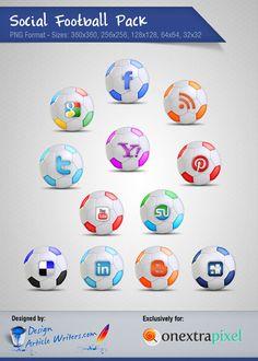 Freebies: Football Social Icon Set. Football - Soccer - Same things... :)