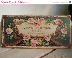 SALE 25 OFF Savon Dulcifierose soapshabby por shabbyfrenchstyle, $9.00