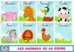 Apprendre les animaux de la ferme: cartes à imprimer