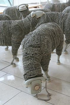 """Telephone Sheep"" by Jean-Luc Cornec"