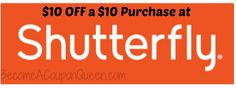 HOT! $10 off $10 Purchase at Shutterfly! Ends Sunday!