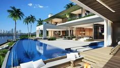 "Let us to inspire you: this spectacular SAOTA house project is located on the iconic ""Di Lido islands"", Miami, the site boasts vistas over Biscayne Bay to downtown. This luxurious and modern home design combines bold geometries of solid and void. Where the voids capitalise on Miami's world-renowned climate becoming landscaped rooms within the home. Views of the ocean and its surroundings are spectacular. Look at pictures below and everything will seem flawless here."