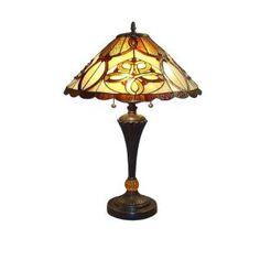 Serena D'italia 25 in. Tiffany Desert Sun Bronze Table Lamp-TF7023TL at The Home Depot 105
