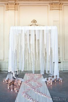 Gorgeous ceremony set-up | Photography by: Krista Fox Photography