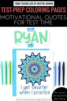 Looking for motivational coloring pages to ease the stress and anxiety around test prep and test time? These Growth Mindset and Encouragement Coloring Pages are a fun activity to do with your students. 5th Grade Classroom, Middle School Classroom, School Fun, Special Education Teacher, New Teachers, Classroom Displays, Classroom Ideas, Classroom Inspiration, Calming Activities
