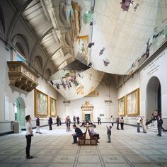 Double Space installation by Barber and Osgerby for the V&A museum.