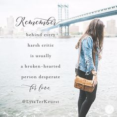 When criticism comes — and it will — I must make up my mind not to worry about defending myself. I can resist the urge to become prickly and use it as an opportunity to be a witness. A witness of the love, grace and mercy of Jesus. Things I desperately need myself. | @LysaTerKeurst