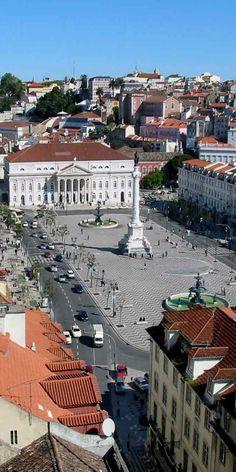 Rossio Square, Lisboa, Portugal...