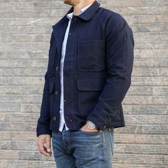 Wool Chore Coat - Indigo | Huckberry