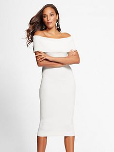 47f5b76ee7d Shop Gabrielle Union Collection - White Sweater Dress. Find your perfect  size online at the