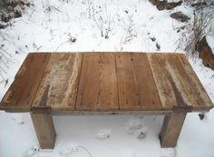$375.00   Barn Door Coffee Table Reclaimed late c.1800's Barn Wood corn crib door Vintage