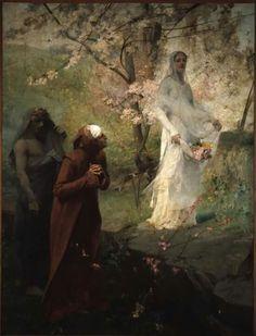 Dante encounters Mathilda-artist Albert Maignan 1881.