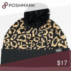 5ccfd26e90f2d Obey Cheetah Pom Beanie    NWT Obey Leopard Pom Beanie Brand new with tags  Jacquard
