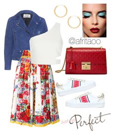 """""""Sin título #252"""" by afritaoo on Polyvore featuring Acne Studios, Dolce&Gabbana, Elizabeth and James, Gucci y Carvela"""