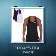 Today Only! 20% OFF this item.  Follow us on Pinterest to be the first to see our exciting Daily Deals. Today's Product: Sale - 20offcandish Candish Classic Gym Vest Mens Bodybuilding Vest Buy now: http://candishsports.com/products/gym-vest-stringer-bodyb http://www.uksportsoutdoors.com/product/asics-mens-knit-pants/