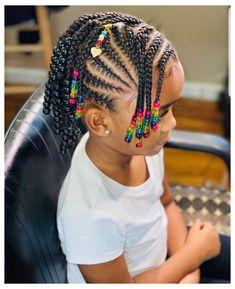 Black Kids Braids Hairstyles, Little Girls Natural Hairstyles, Toddler Braided Hairstyles, Toddler Braids, Kids Curly Hairstyles, Braids For Kids, Black Baby Girl Hairstyles, Girls Braids, Little Girl Braid Styles