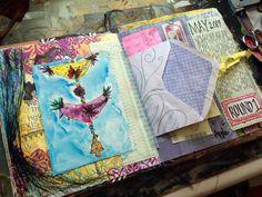 love her combinations of stuff in her journal.