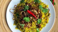 Rýže s čočkou na arabský způsob Dubai Food, Dip, Beef, Meat, Salsa, Steak