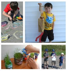 These are wonderful ideas for making recycled crafts, getting outside, and enjoying nature. These are great activities for Earth Day, but they are fun for any time of year. Earth Day Crafts, Nature Crafts, Craft Tutorials, Diy Projects, Homemade Toys, Spring Has Sprung, Recycled Crafts, Outdoor Activities, Teaching Kids