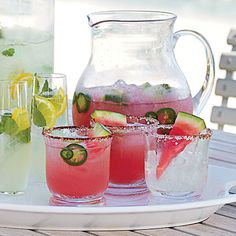 Watermelon-Jalapeno Margarita - Beach Cocktails for a Crowd - Coastal Living