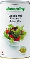 Alpnaerings Salatmiks er en smakssensasjon som inneholder hele 20 forskjellige krydder og urter. Den passer perfekt til dipp, på salater eller som smakstilsetter i sauser og grønnsaksretter.
