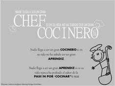 Frases q alimentan el espíritu de un chef