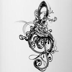tattoo vorlage mit guitarre und rosen als hintergrund | tattoo vorlagen | pinterest | tattoo