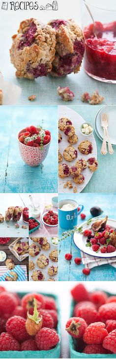 Gluten-free raspberry and oat scones recipe  from Canelle et Vanille.