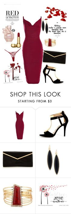 """""""Dame en rouge"""" by mejmiranda ❤ liked on Polyvore featuring Boohoo, GUESS and Maison Close"""