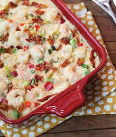 This Shrimp and Grits Casserole is one of our most-requested recipes. It feeds a crowd and is perfect for special occasions.
