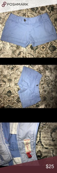 Belk periwinkle/blue shorts Comfortable, preppy style periwinkle shorts! Very flattering to legs. Shorter in length, see comparison to my hand. Shorts Cargos