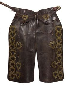 Wild West Show Studded Heart Chaps
