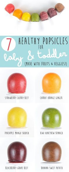 Healthy popsicles for kids? Yes! These homemade ice pops are made with fruits and vegetables, and your baby and toddler will love them - even your picky eater! Combine heatlhy eating with summer fun by whipping up a batch of these delicious kid friendly popsicles. #popsicles #homemade #summer #baby #toddler