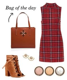 """""""Tartan and suede"""" by iutta ❤ liked on Polyvore featuring Topshop, Gianvito Rossi, T+C by Theodora & Callum and By Terry"""