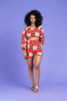 Essa African Print Shorts – Grass-fields