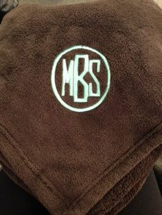 Full Circle Monogrammed Blanket by WhoDeyPromotions on Etsy, $30.00