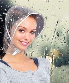 Old lady rain cap. Pink Plastic Capes 0303721e1a4