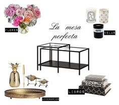 """Coffee table"" by nunisquare on Polyvore featuring interior, interiors, interior design, hogar, home decor, interior decorating, Diane James, Imax Home, H&M y Kate Spade"