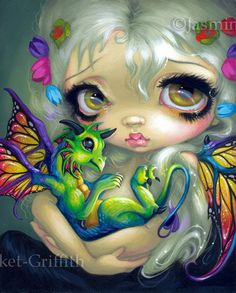 "We're very pleased to present ""Darling Dragonling IV"" from artist Jasmine Becket-Griffith. About the Artist:Jasmine Becket-Griffith is a world-renowned fantasy artist. Magical Creatures, Fantasy Creatures, Beautiful Creatures, Dragons, Art Beat, Desenho Tattoo, Dragon Art, Fairy Art, Illustrations"